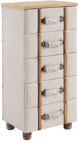 Linon Sarah Five Drawer Padded Chest Cabinet