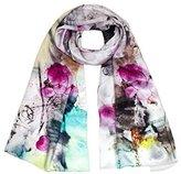 Dahlia Women's 100% Luxury Long Silk Scarf - Painting