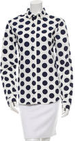 Burberry Polka Dot Button-Up Top