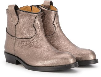 Gallucci Kids Metallic-Print Slip-On Ankle Boots