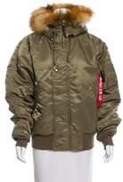 Alpha Industries Fur-Trimmed Bomber Jacket