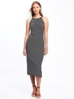 Old Navy High-Neck Side-Slit Midi Dress for Women
