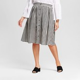 Who What Wear Women's Plus Size Button Front Skirt