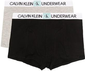 Calvin Klein Kids TEEN three-pack logo-tape boxer briefs