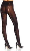 Pretty Polly Dot Cut-Out Back Seam Tights
