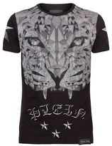 Philipp Plein Swarovski Tiger Top T-shirt