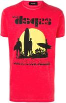 DSQUARED2 surfer sunset T-shirt