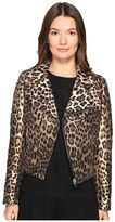 RED Valentino Leopard Jacqaurd Jacket Women's Coat
