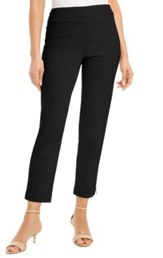 JM Collection Petite Zip-Hem Tummy-Control Skinny-Leg Cropped Pants, Created for Macy's