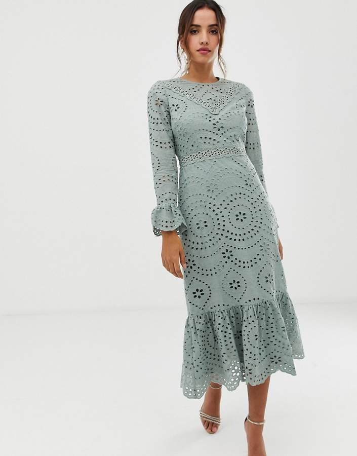 103c07a16e1 Broderie Maxi Dress - ShopStyle