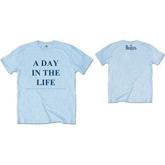 The Beatles Men's Day in The Life (Back Print) T-Shirt,Small