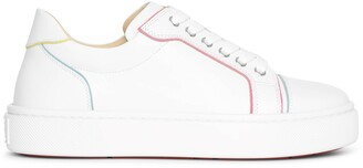 Christian Louboutin Vieirissima white multi leather sneakers