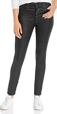 AG Jeans Farrah Faux-Leather Skinny Jeans