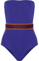 Eres Pepita Belted Bandeau Swimsuit - Royal blue