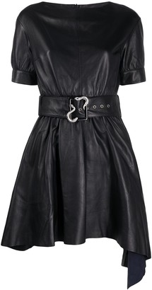 Just Cavalli Flared Belted Dress