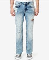 Buffalo David Bitton Men's Six-X Straight Fit Stretch Ripped Jeans
