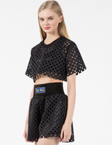 Andrea Crews Black Cube Cropped Top