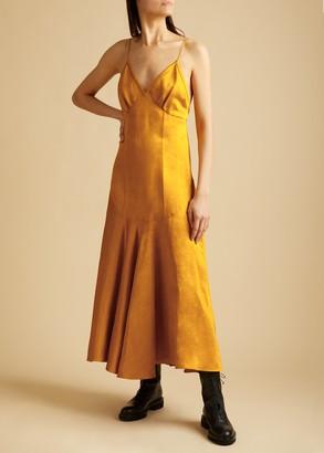 KHAITE The Rini Dress in Marigold