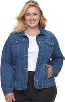 Croft & Barrow Plus Size Jean Jacket