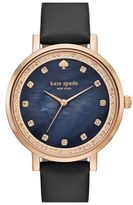 Kate Spade 'monterey' Leather Strap Watch, 35mm