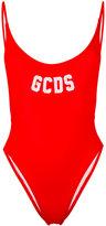 Gcds - logo scoop back swimsuit - women - Polyamide/Spandex/Elastane - XS