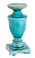 A&B Home Blue Ceramic Urn Candleholder