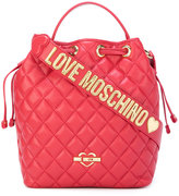 Love Moschino quilted drawstring tote