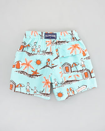 Vilebrequin Father & Son Boys' Jim Swim Trunks, Sizes 8-14