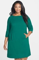Eliza J Plus Size Women's Pocket Detail Shift Dress