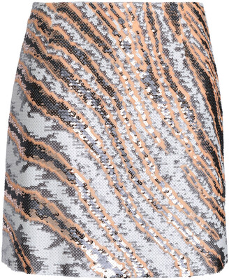 Roberto Cavalli Sequined Silk Mini Skirt