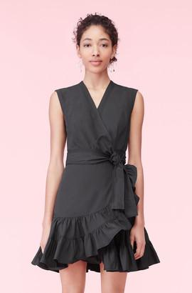 Rebecca Taylor Taffeta Wrap Dress