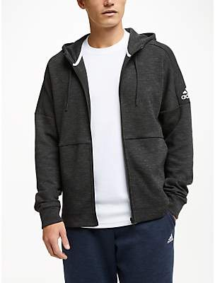 adidas ID Stadium Full Zip Hoodie, Black/Grey Six