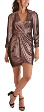 GUESS Draped Metallic Bodycon Dress