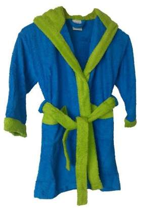 Home Basic Kids – Hooded children bathrobe, size 6 years, color Turquoise y Green