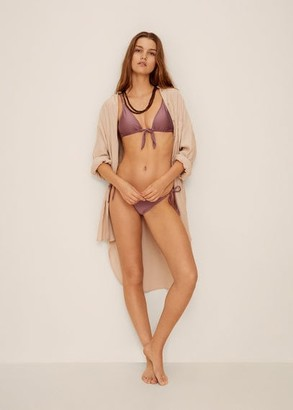 MANGO Bow bikini top light/pastel purple - M - Women