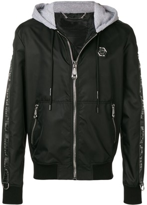 Philipp Plein Contrast Hood Bomber Jacket