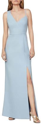 BCBGMAXAZRIA Asymmetrical Bodice Gown Lt