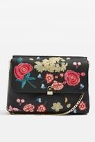 Topshop Floral Embroidered Clutch Bag