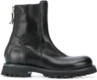 Moma Leather Ankle Boots With Zip Fastening