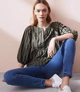 Lou & Grey Garment Dye Textline Peasant Blouse