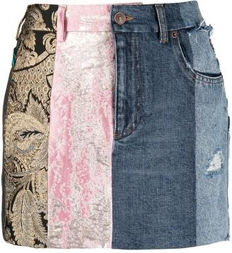 Dolce & Gabbana Panelled Mini Skirt