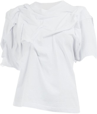 aganovich asymmetric ruched T-shirt