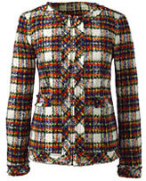 Classic Women's Textured Jacket-Drake Green Print