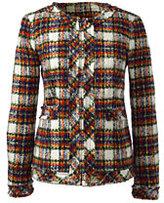 Lands' End Women's Textured Jacket-Drake Green Print