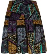 River Island Womens Purple print chiffon mini skirt