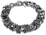 Emanuele Bicocchi Men's 925 Sterling Silver Big Chain Bracelet of Length 22cm