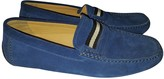 Bally Blue Suede Flats