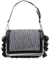 Theyskens' Theory Leather-Trimmed Tweed Bag