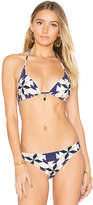Sauvage Swarovski Pendant Triangle Bikini Top in Blue. - size L (also in M,XL)