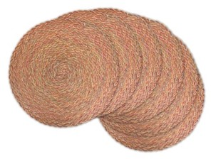 Design Imports Variegated Round Braided Placemat, Set of 6